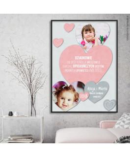 Serce różowe + 2 zdjęcia -...