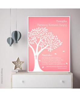 Drzewo różowe - pamiątka...