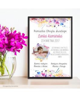 Kwiaty akwarela + zdjęcie -...