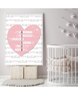 Alicja - serce różowe -...