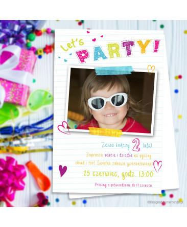 Lets Party Zaproszenie Na Urodziny