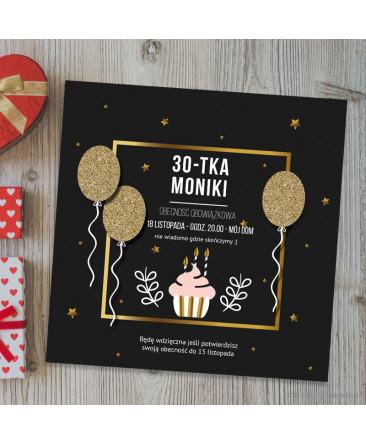 Balony Złote Zaproszenie Na Urodziny
