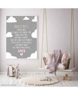 Aniele Boży Chmury różowy -...