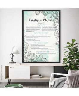 Miętowe kwiaty - certyfikat