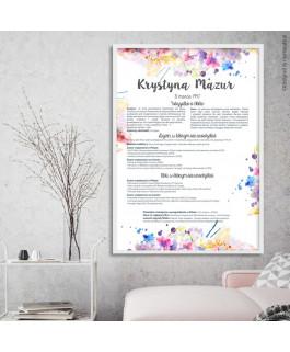 Kolorowe kwiaty - certyfikat