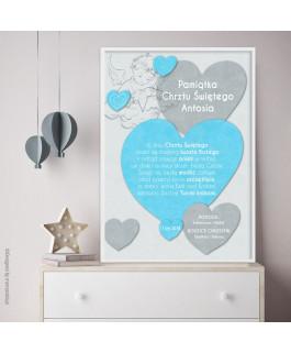 Serce niebieskie - pamiątka...