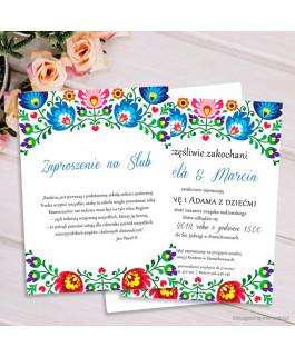 Zaproszenie ślubne folk,...