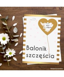 Balonik szczęścia - kartka...