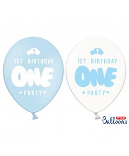 Balony One niebieski na...
