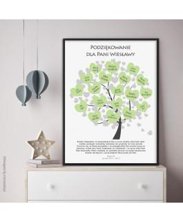 Drzewo z serduszkami na...