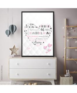 Serce z napisami różowo...