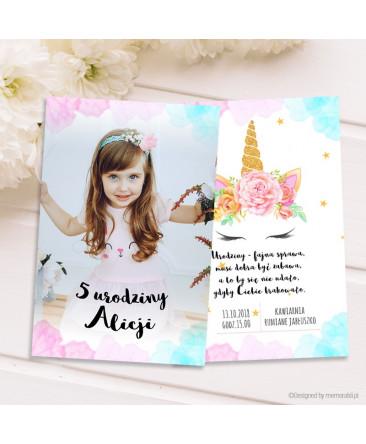 Jednorożec Ze Zdjęciem Zaproszenie Na Urodziny