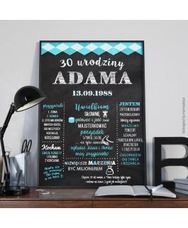Urodzinowy plakat - tablica...
