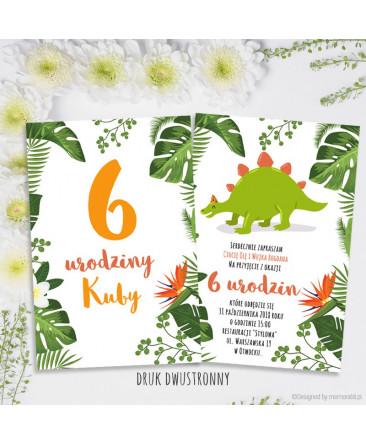 Dinozaur Zielony Zaproszenie Na Urodziny