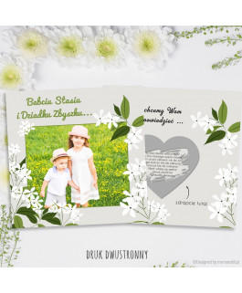 Białe kwiaty - kartka...