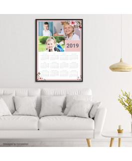 Kalendarz ramka różowa +...