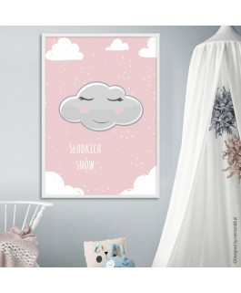 Chmurka w chmurach różowa