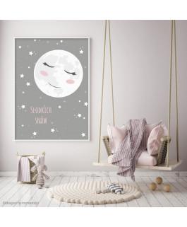 Księżyc szaro - różowy