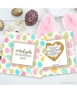 Kartka Wielkanocna jajeczka...