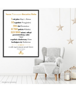 Złote napisy plakat -...