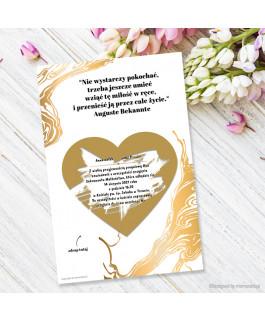 Złoty dekor - Zaproszenie...