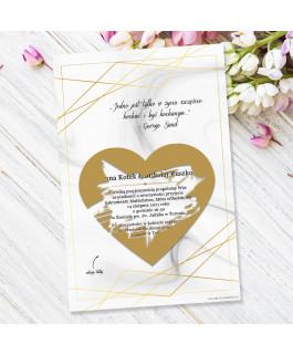 Złoty dekor 2 - Zaproszenie...